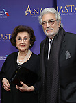 Marta Domingo and Placido Domingo  attends Broadway Opening Night performance of 'Anastasia' at the Broadhurst Theatre on April 24, 2017 in New York City.