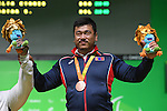 Sodnompiljee Enkhbayar (MGL), <br /> SEPTEMBER 13, 2016 - Powerlifting : <br /> Men's -88kg Medal Ceremony <br /> at Riocentro - Pavilion 2<br /> during the Rio 2016 Paralympic Games in Rio de Janeiro, Brazil.<br /> (Photo by AFLO SPORT)