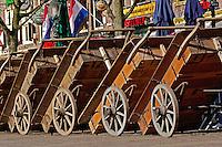 Wagons at Alkmaar Cheese Festival, Alkmaar, Holland, Netherlands