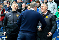 Hull City manager Nigel Adkins is greeted by Blackburn Rovers manager Tony Mowbray<br /> <br /> Photographer Alex Dodd/CameraSport<br /> <br /> The EFL Sky Bet Championship - Blackburn Rovers v Hull City - Saturday 26th January 2019 - Ewood Park - Blackburn<br /> <br /> World Copyright © 2019 CameraSport. All rights reserved. 43 Linden Ave. Countesthorpe. Leicester. England. LE8 5PG - Tel: +44 (0) 116 277 4147 - admin@camerasport.com - www.camerasport.com