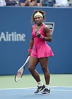 FLUSHING NY- SEPTEMBER 3: Serena Williams Vs Andrea Hlavackova on Arthur Ashe stadium at the USTA Billie Jean King National Tennis Center on September 3, 2012 in in Flushing Queens. Credit: mpi04/MediaPunch Inc. ***NO NY NEWSPAPERS*** /NortePhoto.com<br /> <br /> **CREDITO*OBLIGATORIO** <br /> *No*Venta*A*Terceros*<br /> *No*Sale*So*third*<br /> *** No*Se*Permite*Hacer*Archivo**<br /> *No*Sale*So*third*
