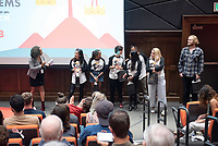 Student organizers. Occidental College hosts TEDxOccidentalCollege on April 21, 2018 in Choi Auditorium of Johnson Hall. Students, faculty, alums and guest speakers delivered their TEDx Talk on the theme, Shifting Ecosystems of Power.<br /> (Photo by Marc Campos, Occidental College Photographer)