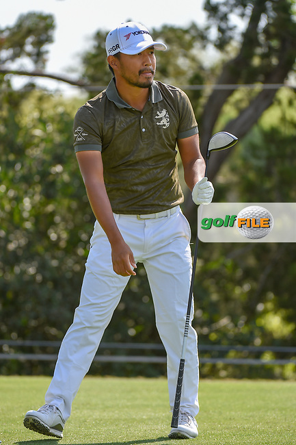 Satoshi Kodaira (JPN) watches his tee shot on 2 during day 1 of the WGC Dell Match Play, at the Austin Country Club, Austin, Texas, USA. 3/27/2019.<br /> Picture: Golffile   Ken Murray<br /> <br /> <br /> All photo usage must carry mandatory copyright credit (© Golffile   Ken Murray)