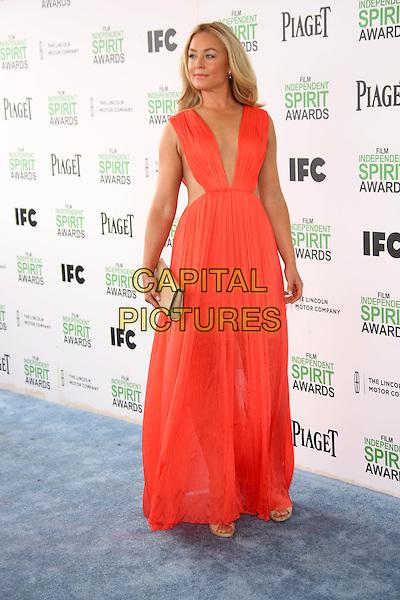 SANTA MONICA, CA - March 01: Elisabeth Rohm at the 2014 Film Independent Spirit Awards Arrivals, Santa Monica Beach, Santa Monica,  March 01, 2014. Credit: Janice Ogata/MediaPunch<br /> CAP/MPI/JO<br /> &copy;JO/MPI/Capital Pictures