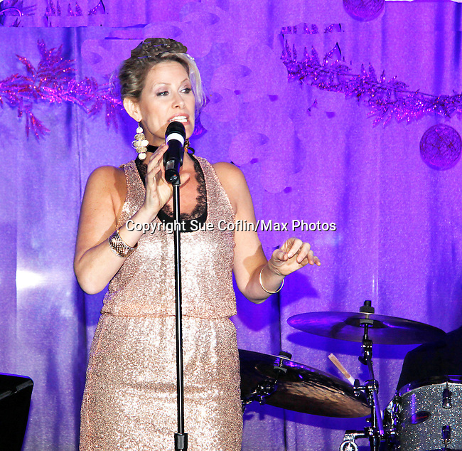 Singer Jodi Stevens performs at New Year's Eve 2016 at The Copacabana, New York City, New York. (Photo by Sue Coflin/Max Photos)  suemax13@optonline.net