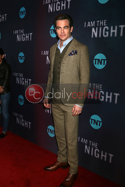 """Chris Pine<br /> at the """"I Am The Night"""" Premiere, Harmony Gold Theater, Los Angeles, CA 01-24-19<br /> David Edwards/DailyCeleb.com 818-249-4998"""