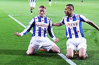 VOETBAL: HEERENVEEN: Abe Lenstra Stadion, 11-04-2015, Eredivisie, sc Heerenveen - AZ Alkmaar, Eindstand: 5-2, Sam Larsson (#11), Luciano Slagveer (#17), ©foto Martin de Jong