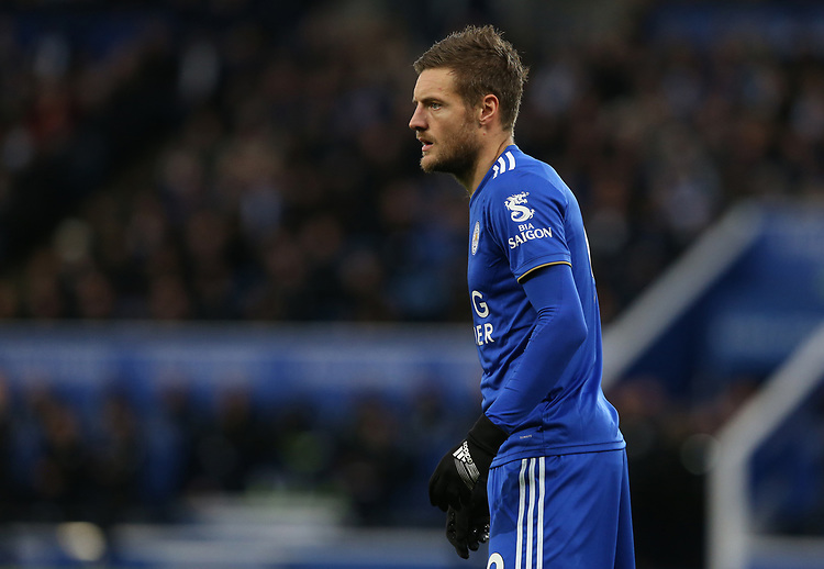 Leicester City's Jamie Vardy <br /> <br /> Photographer Stephen White/CameraSport<br /> <br /> The Premier League - Leicester City v Watford - Saturday 1st December 2018 - King Power Stadium - Leicester<br /> <br /> World Copyright © 2018 CameraSport. All rights reserved. 43 Linden Ave. Countesthorpe. Leicester. England. LE8 5PG - Tel: +44 (0) 116 277 4147 - admin@camerasport.com - www.camerasport.com