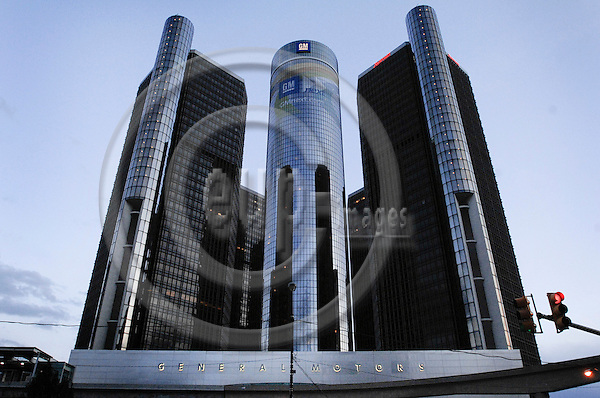 DETROIT - USA 26 OCT 2008 -- Panorama from Detroit. General Motors headquarters, the Renaissance Center in the back.  -- PHOTO: © GORM K. GAARE/ EUP-BERLIN..
