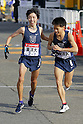 (L to R) Keita Shitara (Toyo-Univ), Kenji Yamamoto (Toyo-Univ), JANUARY 2, 2012 - Athletics : The 88th Hakone Ekiden Race Totsuka Relay place in Kanagawa, Japan. (Photo by Yusuke Nakanishi/AFLO SPORT) [1090]