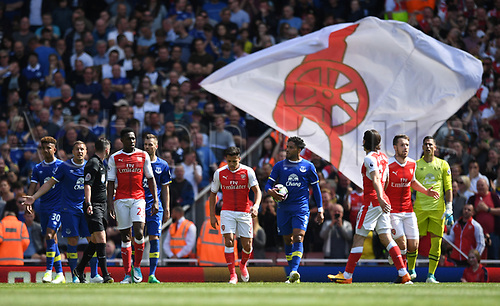 May 21st 2017, Emirates Stadium, Highbury London England; EPL Premier league football, Arsenal versus Everton; Alexis Sanchez, Forward for Arsenal after scoring the second goal
