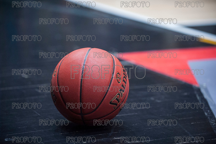VALENCIA, SPAIN - NOVEMBER 3: Oficial ball during EUROCUP match between Valencia Basket Club and CAI Zaragozaat Fonteta Stadium on November 3, 2015 in Valencia, Spain