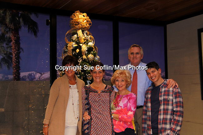 "As The World Turns' Colleen Zenk stars along with the cast - Brenda Withers, Peggy J. Scott, Malachy Cleary and Davy Raphaely in ""Other Desert Cities"" at the tech rehearsal (in costume) on October 14, 2015 atr Whippoorwill Halll Thetre, North Castle Library, Kent Place, Armonk, New York.  (Photo by Sue Coflin/Max Photos)"