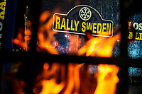 13th February 2020, Torsby base and Karlstad, Värmland County, Sweden; WRC Rally of Sweden, Shakedown event;  Swedish Rally signage