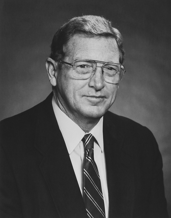 Portrait of Sen. Conrad Burns, R-Mont., on January 3, 1989. (Photo by CQ Roll Call via Getty Images)