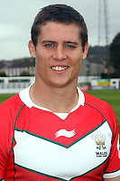 PICTURE BY IAN LOVELL/WRL...Rugby League - Wales Rugby League Headshots 2011 - 21/10/11...Wales Chris Beasley.