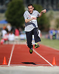 Chase Richards, of Washoe, competes in the long jump event the Special Olympics Nevada 2013 Summer Games in Reno, Nev., on Saturday, June 1, 2013. <br /> Photo by Cathleen Allison