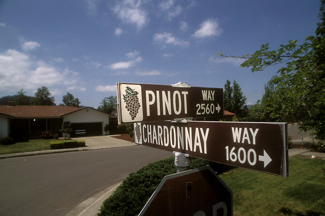 Street sign in St. Helena, Ca