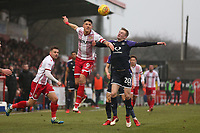 Alex Revell of Stevenage and Flynn Downes of Luton Town during Stevenage vs Luton Town, Sky Bet EFL League 2 Football at the Lamex Stadium on 10th February 2018