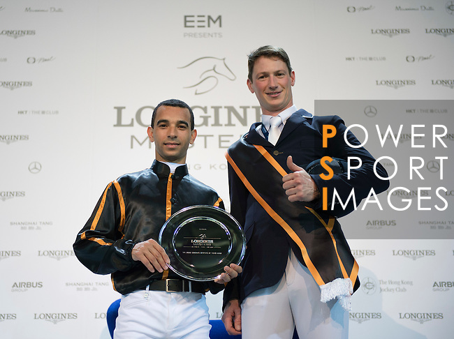 The Winner Danier Deusser, Joao Moreina The HKJC Race of the Rider during the Longines Masters of Hong Kong on 19 February 2016 at the Asia World Expo in Hong Kong, China. Photo by Li Man Yuen / Power Sport Images
