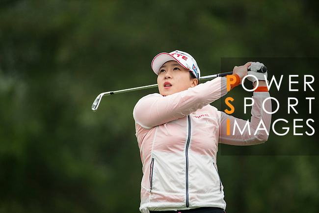 Ji Hyun Kim of South Korea plays during Round 2 of the World Ladies Championship 2016 on 11 March 2016 at Mission Hills Olazabal Golf Course in Dongguan, China. Photo by Victor Fraile / Power Sport Images