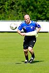Nederland, Utrecht, 30 juni 2012.Eerste training van FC Utrecht .Jan Wouters, trainer-coach van FC Utrecht in actie met bal