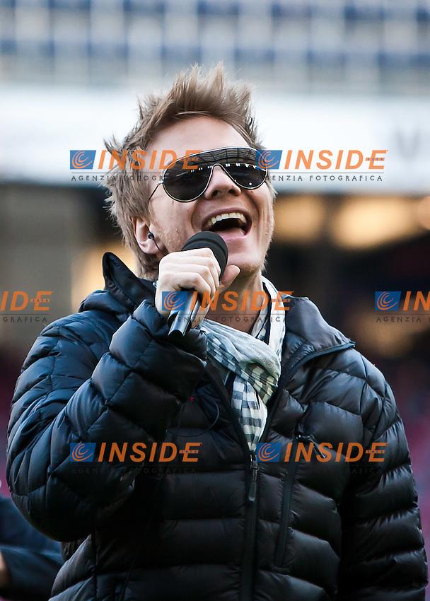 Michel Telo, autore della canzone Se Eu Te Pego (Nossa Nossa).10.03.2012, Red Bull Arena, Salzburg, Austria .Foto Insidefoto /  EXPA/ Juergen Feichter