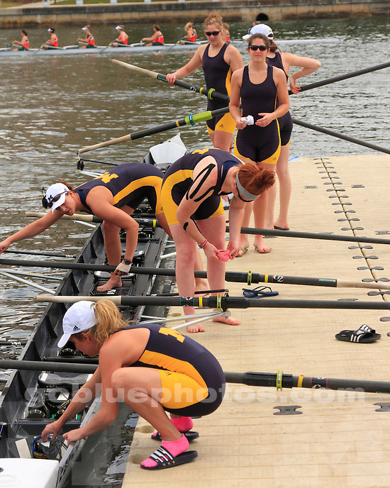 University of Michigan women's rowing in a non-scoring scrimmage against Miami in Tampa, FL, on March 5, 2011.