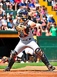 15 July 2010: Aberdeen IronBirds' catcher Austin Rauch in action against the Vermont Lake Monsters at Centennial Field in Burlington, Vermont. The Lake Monsters rallied in the bottom of the 9th inning to defeat the IronBirds 7-6 notching their league leading 20th win of the 2010 NY Penn League season. Mandatory Credit: Ed Wolfstein Photo