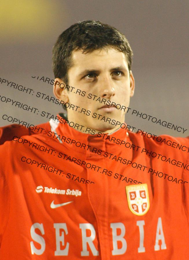 Fudba, kvalifikacije za EURO 2008 (Switzerland-Austria).Serbia Vs. Kazakhstan (Kazahstan).Gojko Kacar.Beograd, 24.11.2007..foto: Srdjan Stevanovic