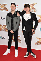 Max and Harvey<br /> at the photocall of X Factor Celebrity, London<br /> <br /> ©Ash Knotek  D3524 09/10/2019