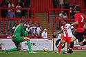 Darius Charles of Stevenage scores their first goal<br />  Stevenage v Manchester United XI - Pre-season friendly - Lamex Stadium, Stevenage - 26th July, 2013<br />  © Kevin Coleman 2013