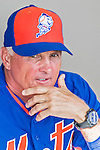 5 March 2015: New York Mets Manager Terry Collins awaits the start of batting practice prior to a Spring Training game against the Washington Nationals at Space Coast Stadium in Viera, Florida. The Mets fell to the Nationals after a late inning rally, dropping a 5-4 Grapefruit League game. Mandatory Credit: Ed Wolfstein Photo *** RAW (NEF) Image File Available ***