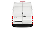 Straight rear view of a 2019 Volkswagen Crafter Base 4 Door Cargo Van stock images