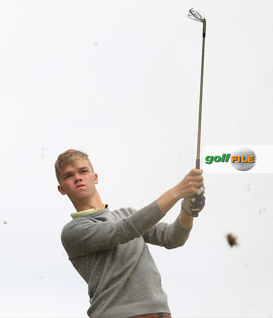Ciaran Smyth (Greenore) on the 7th tee during Round 2 of the Irish Boys Amateur Open Championship at Tuam Golf Club on Wednesday 24th June 2015.<br /> Picture:  Thos Caffrey / www.golffile.ie