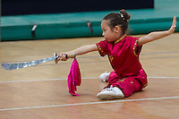 Saniaya Fu performs her routine during the 3rd International Chan Wu, Traditional Kung Fu and Wu Shu Championships in Budapest, Hungary on November 24, 2012. ATTILA VOLGYI