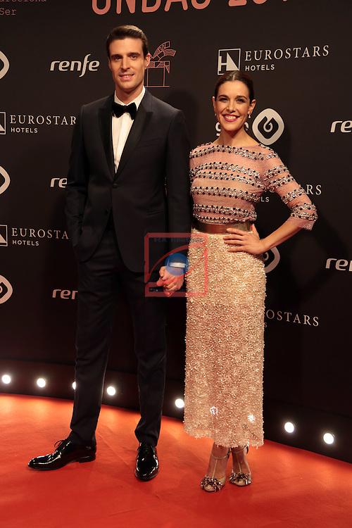 63 Premios Ondas.<br /> Photocall-Gala entrega de Premios.<br /> Uri Sabat &amp; Raquel Sanchez Silva.