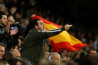 Real Madrid´s supporter reacts against his team during 2015-16 La Liga match between Real Madrid and Barcelona at Santiago Bernabeu stadium in Madrid, Spain. November 21, 2015. (ALTERPHOTOS/Victor Blanco) /NortePhoto