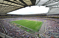 A general view of Twickenham Stadium during the match. Aviva Premiership Final, between Saracens and Northampton Saints on May 31, 2014 at Twickenham Stadium in London, England. Photo by: Patrick Khachfe / JMP