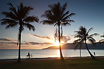 Sunrise on the Cairns Esplanade.  Cairns, Queensland, Australia