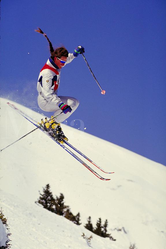 Rex Wehrman (MR469) Alpine Skiing, Breckenridge Ski Area, Summit County, Colorado. Rex Wehrman (MR469). Summit County, Colorado.