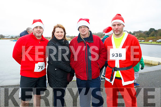 Ready to run in the Santa Fun run in the Tralee Wetlands, l-r Shane Galvin, Norma Moore, Noel Moore and Owen Hussey