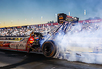 Nov 11, 2016; Pomona, CA, USA; NHRA top fuel driver Shawn Langdon during qualifying for the Auto Club Finals at Auto Club Raceway at Pomona. Mandatory Credit: Mark J. Rebilas-USA TODAY Sports