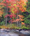 USA, New York, Autumn in the Adirondack Mountains