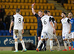St Johnstone v Inverness Caledonian Thistle...20.12.14   SPFL<br /> Ross Draper is red carded by Ref Brian Colvin<br /> Picture by Graeme Hart.<br /> Copyright Perthshire Picture Agency<br /> Tel: 01738 623350  Mobile: 07990 594431