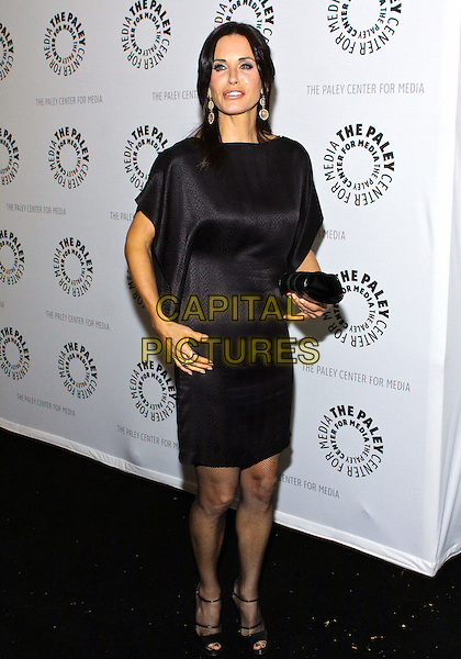 "COURTENEY COX ARQUETTE .27th Annual PaleyFest Presents ""Cougar Town""  held at the Saban Theatre, Beverly Hills California, USA..March 5th, 2010.full length black dress courtney open toe shoes clutch bag ankle strap peep silk satin .CAP/ADM/TC.©T. Conrad/AdMedia/Capital Pictures."