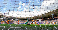 Leeds United's Luke Ayling scores the opening goal <br /> <br /> Photographer Alex Dodd/CameraSport<br /> <br /> The EFL Sky Bet Championship - Hull City v Leeds United - Saturday 29th February 2020 - KCOM Stadium - Hull<br /> <br /> World Copyright © 2020 CameraSport. All rights reserved. 43 Linden Ave. Countesthorpe. Leicester. England. LE8 5PG - Tel: +44 (0) 116 277 4147 - admin@camerasport.com - www.camerasport.com