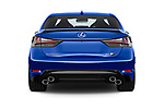 Straight rear view of a 2017 Lexus GS F 4 Door Sedan stock images