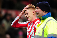 Sam Clucas of Stoke City at full time during the Sky Bet Championship match between Stoke City and Swansea City at the Bet 365 Stadium in Stoke-on-Trent, England, UK. Saturday 25 January 2020