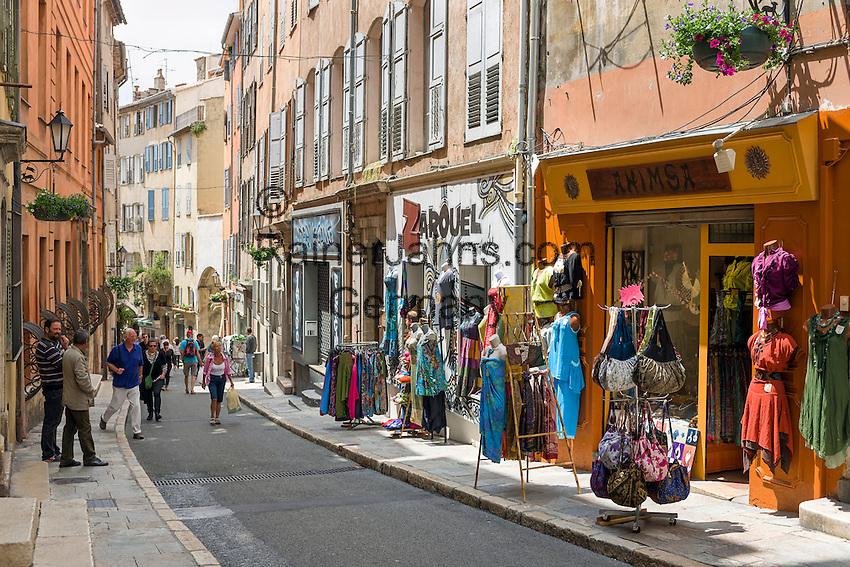 France, Provence-Alpes-Côte d'Azur, Grasse: old town lane | Frankreich, Provence-Alpes-Côte d'Azur, Grasse: Altstadtgasse